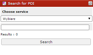 POI search dialog
